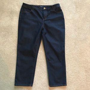 Chico's Platinum Crop dark denim stretch size 1.5